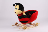 colorful music toys wooden chair baby plush rocking horse