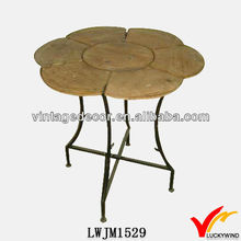 antique round wood table