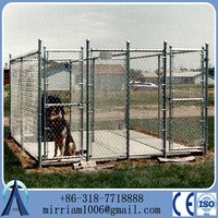 10x10x6 foot Heavy duty galvanized welded wire outdoor large dog kennel wholesale
