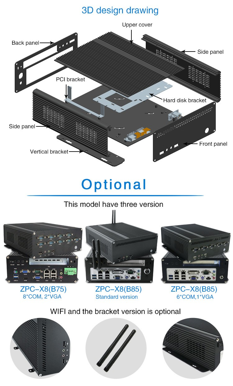 Iwill I5-4570B85-X8 Mini Car PC, Car Computer, Vehicle Computer With PCIE Slot