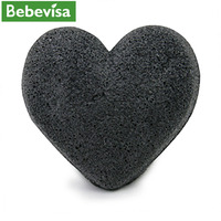 Eco friendly 100% natural Organic konjac body sponge charcoal bath