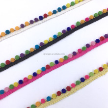 New cheap beads pom pom lace trim