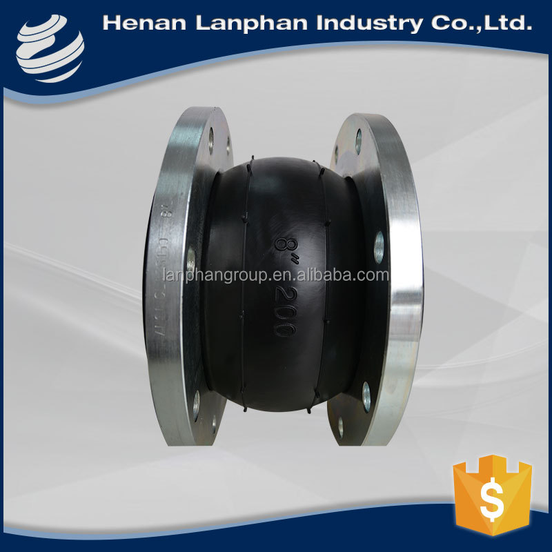 high efficiency rubber expansion joint with union and flange