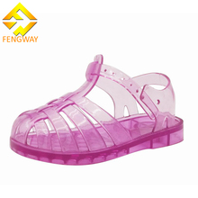 Low price topless nude jelly sandals kids