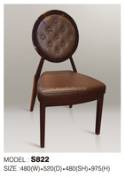 Antique Wood Finished round back indoor dining chair