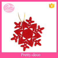 China wholesale cheap price felt snowflake christmas ornaments