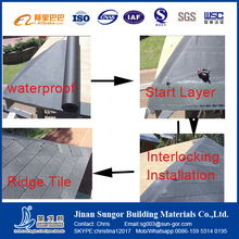 Colorful Stone Coated Fiberglass Asphalt Roofing Tiles for India