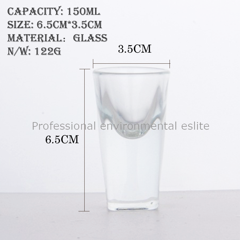 Excellent Quality And Reasonable Price Round Mouth Cup Cheap Glass Cup With Square Bottom