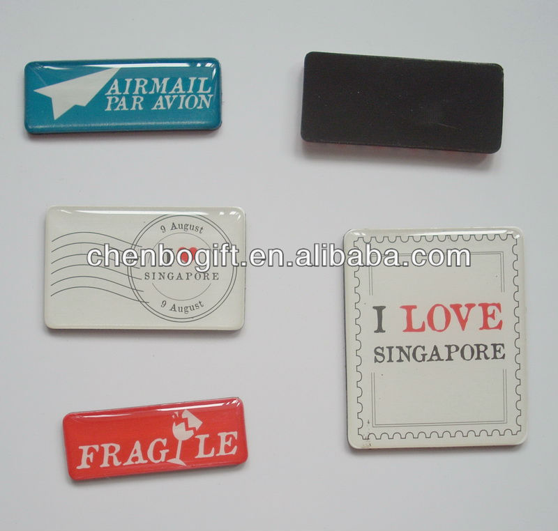 Custom made epoxy resin fridge magnet, custom design resin magnets