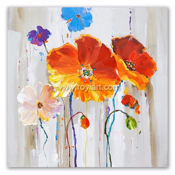Collection of Artwork to Designer Flower Canvas Oil Painting for Interior Decoration
