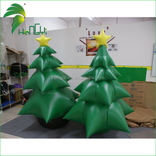 Popular design outdoor inflatable christmas decoration tree for selling
