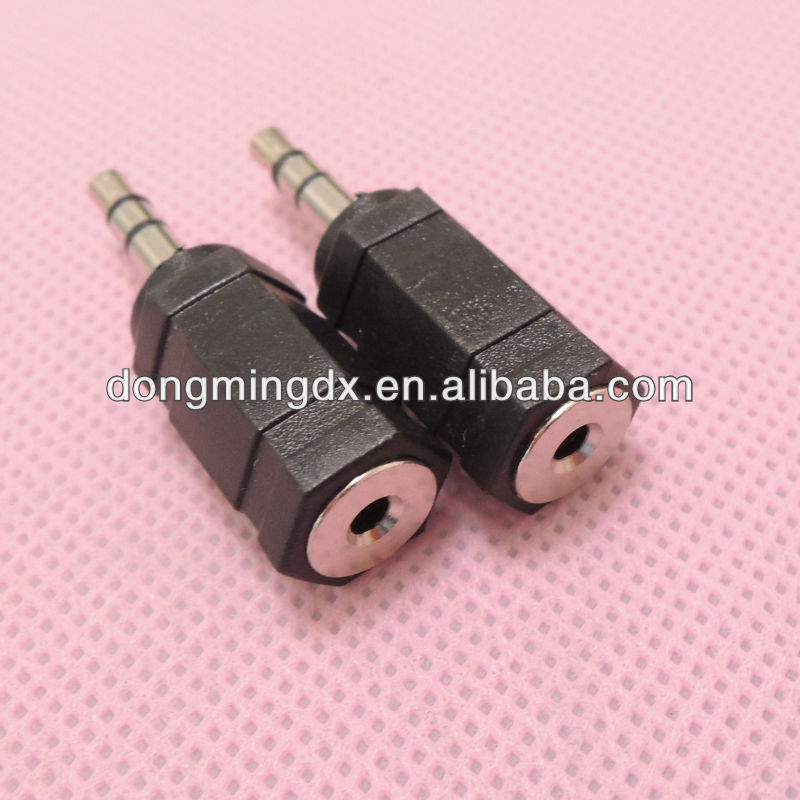 Stereo 3.5 male to 2.5 female connector adapter