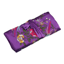 Many colors Chinese Style Silk Brocade Jewelry roll ,jewelry pouch JR004