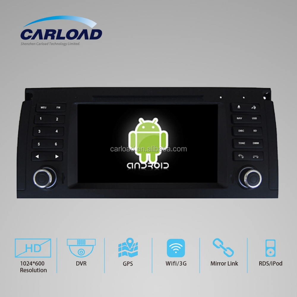 Android 5.1.1 quad core 1024 HD car dvd gps for 2 din BMW E39