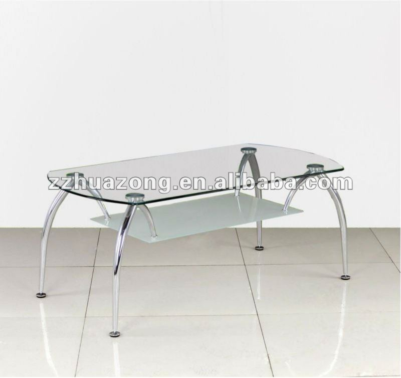 New Clear Glass & Chrome Coffee Table