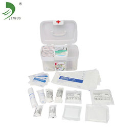 Clear plastic PP material transparent first aid box/kit