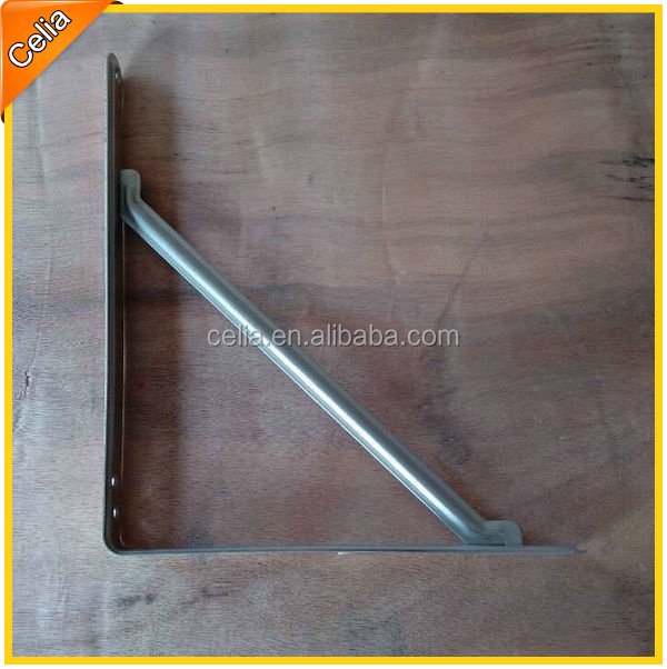 zinc plated or powder coating steel triangle brackets for shelf