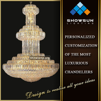 Hotel big turkish hanging lamps chain chandelier for sale