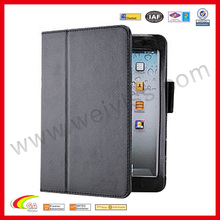 Magnetic PU leather case with stylus holder for for ipad air leather case