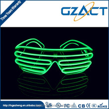 Party concerts shutter frame multi-color el wire neon sunglasses