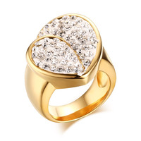 China KSF Jewelry Fashion Rings Gold Casting Ring Rhinestone Ring For Women And Men 2016