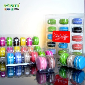 Hot Sale Clear Blister Macarons Plastic Clamshell Packaging