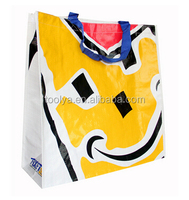 Custom PP glossy lamination promotional PP woven shopping bags