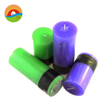aroma Colored fluted pillar candle wholesale /scented Flute Lighting Candles