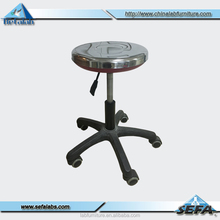 laboratory furniture stainless steel lab stool with wheel