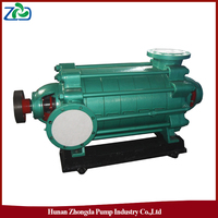 ZHONGDA D Type High Pressure Cast Iron Horizontal Centrifugal Multistage Electric Motor Water Pump Set