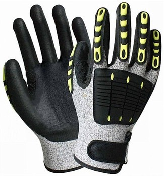 HTR TPR Mechanic Cut Resistant Impact Resistant Gloves