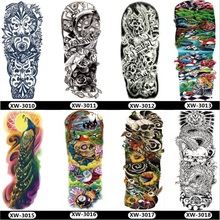 Midler Full Arm Temporary Tattoo,Nylon Fake Tattoo Sleeve Shirts for Man Women