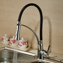 New design high level pull down stretched flexible hose for kitchen faucet XR8052
