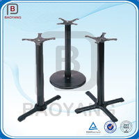 machining and welding black cast iron bar table base and leg