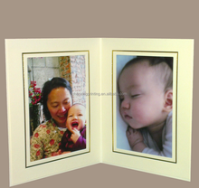 double-faced yellow paper photo frame business card with phone address