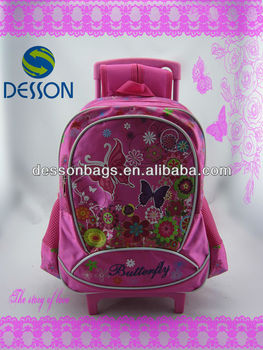 Butterfly SCHOOLBAG With Wheels For Girl
