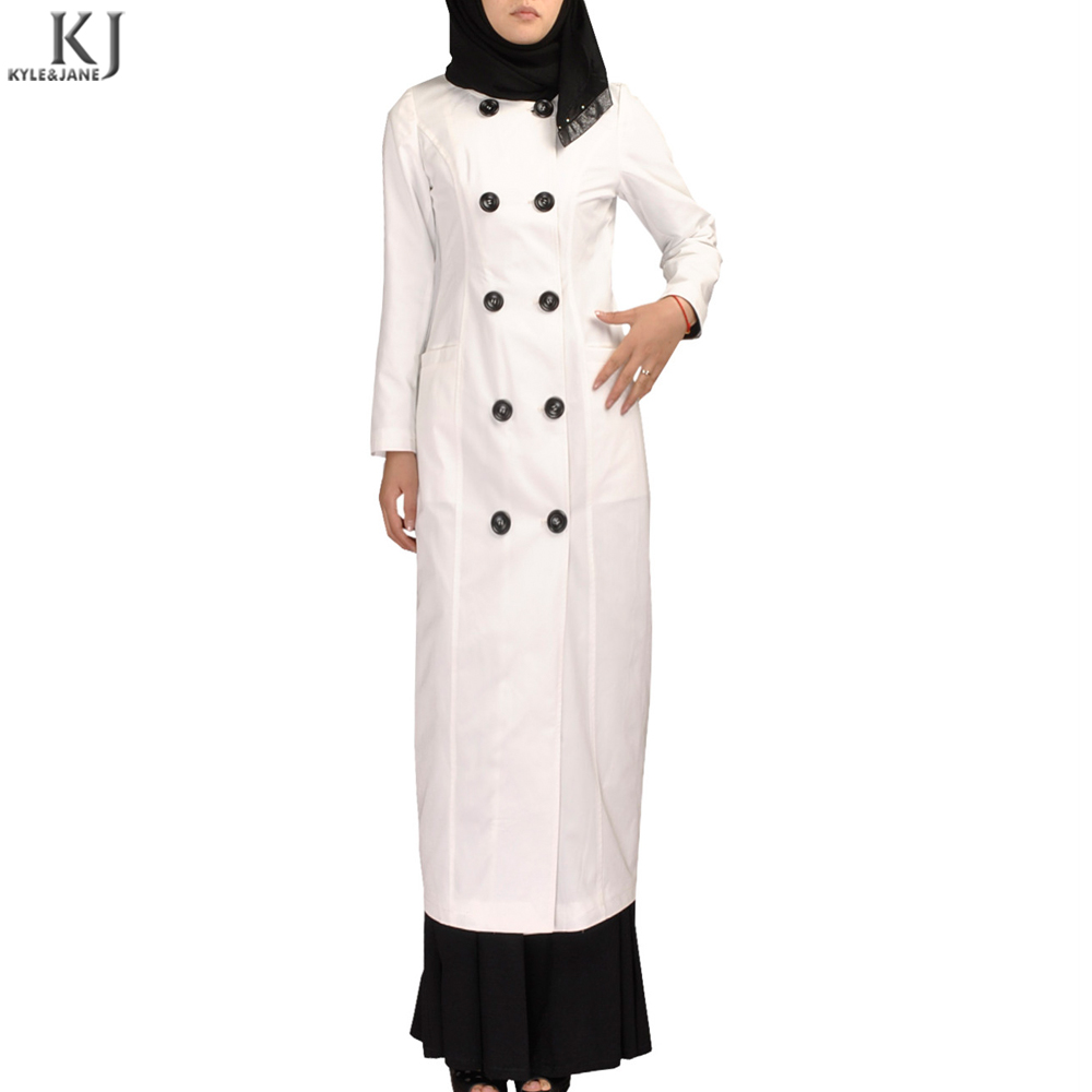2018 casual daily wear winter collection muslim fashion long modest coat for UK