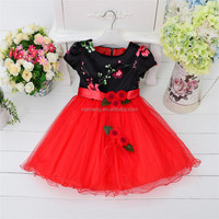 Wholesale chiffon designer one piece party dress for baby girl