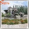 Fiberglass and resin fountain garden waterfall fountain fake stone wall decortion