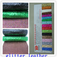 Hot Sale 2015 New Design High Quality Glitter Synthetic Leather