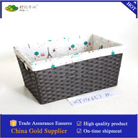 handmade paper rope basket with liner