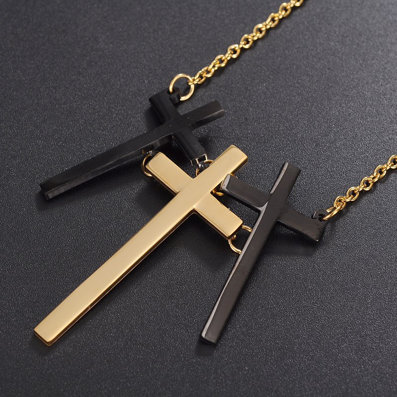 Yiwu Meise unqiue three stainless steel cross pendant