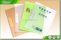 Plastic Clear A4 Size Document Metal Clip File Folder
