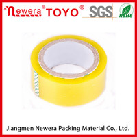 Yellowish Color BOPP adhesive tape jumbo roll/Strong stickness carton sealing tape