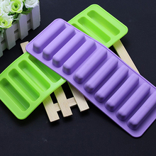 Silicone Cylinder Ice Cube Tray Freeze Mould Pudding Jelly Chocolate Mold