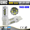 car led bulb 80w st20 7443 auto car led stop light parking lamp brake light