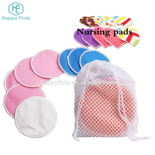 Happy flute Washable Organic Bamboo breast Nursing Pads cloth menstrual pads