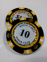 Custom Gaming plastic poker chips challenge coins