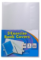 plastic file cover student note book vinyl plastic cover for a4 paper plastic binding
