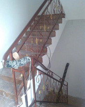 decorative wrought iron indoor stair railings
